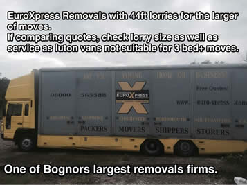 bognor removals by euroxpress is the largest local firm