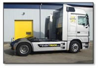 Tractor units for pulling trailers for exhibitions or shows concerts or haulage up to full loads or part loads